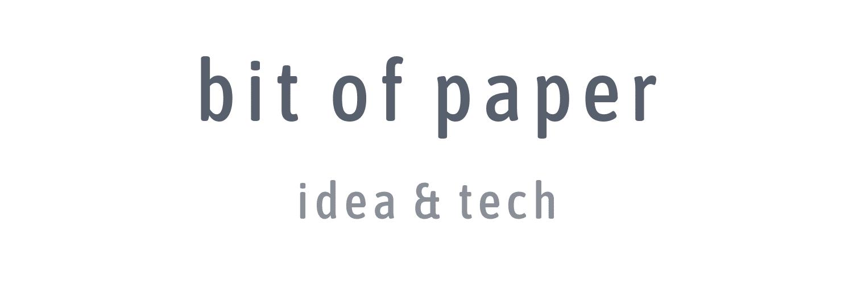 bit of paper